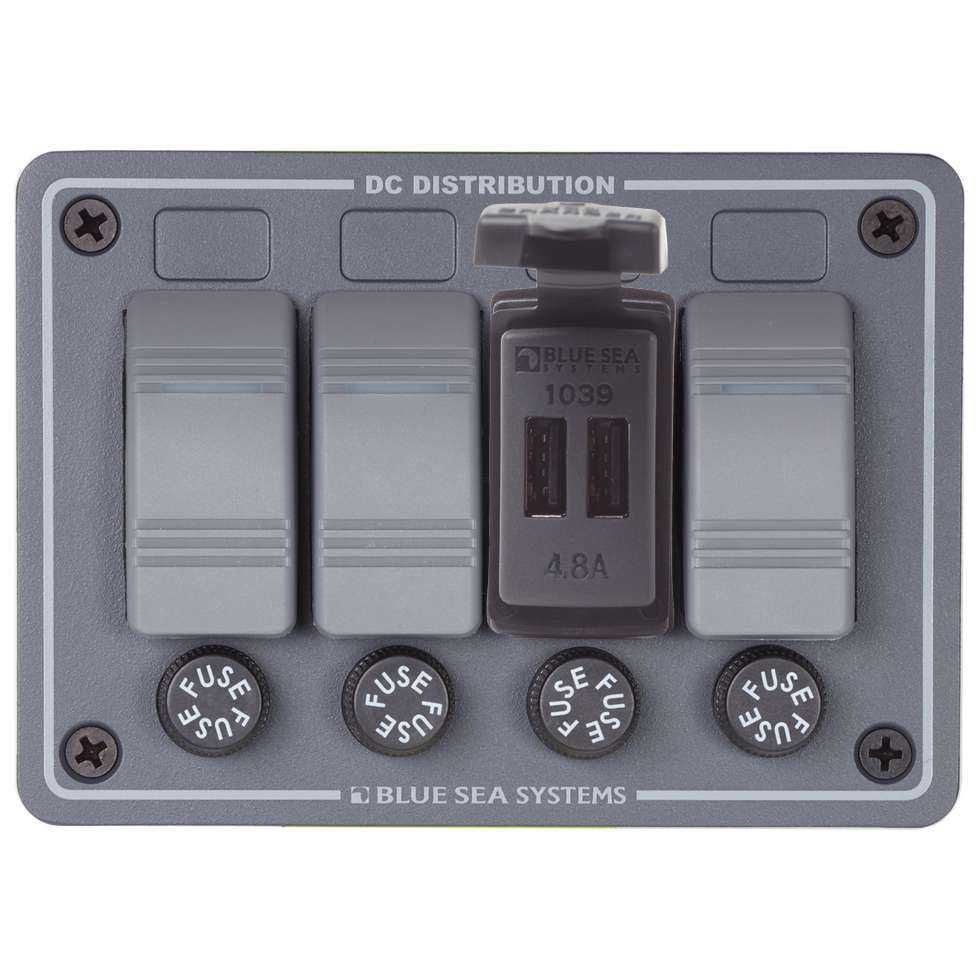 Blue Sea 1039 Marine Fast Charge Dual USB Charger Switch Mount Boat ...