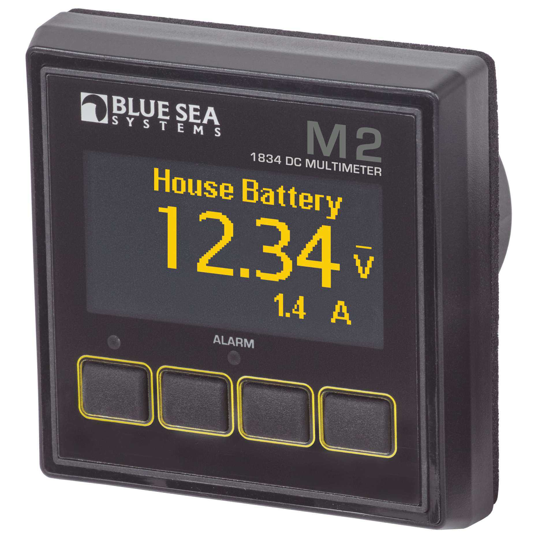 Blue Sea 1834 M2 Dc Multimeter Oled Display Battery Voltage The Current From A Is Direct Monitor