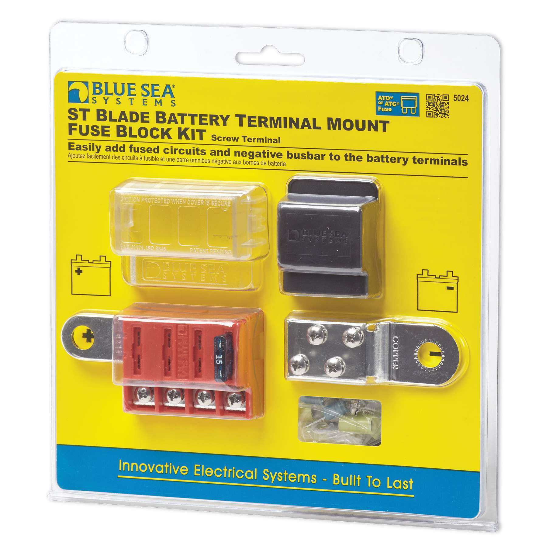 Blue Sea 40 Marine ST Blade Battery Terminal Mount Fuse Block ...