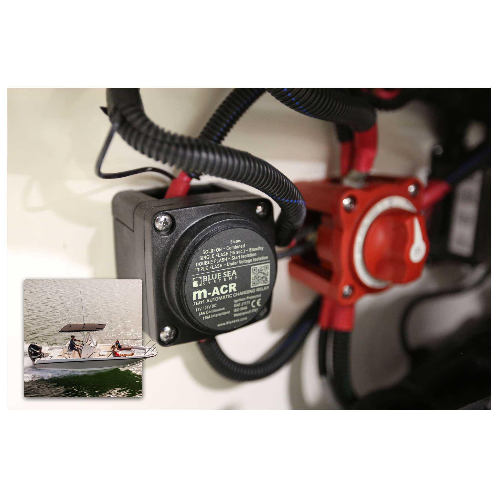 Blue Sea 7649 Mini Add-A-Battery Kit 65A Battery Switch Automatic ...