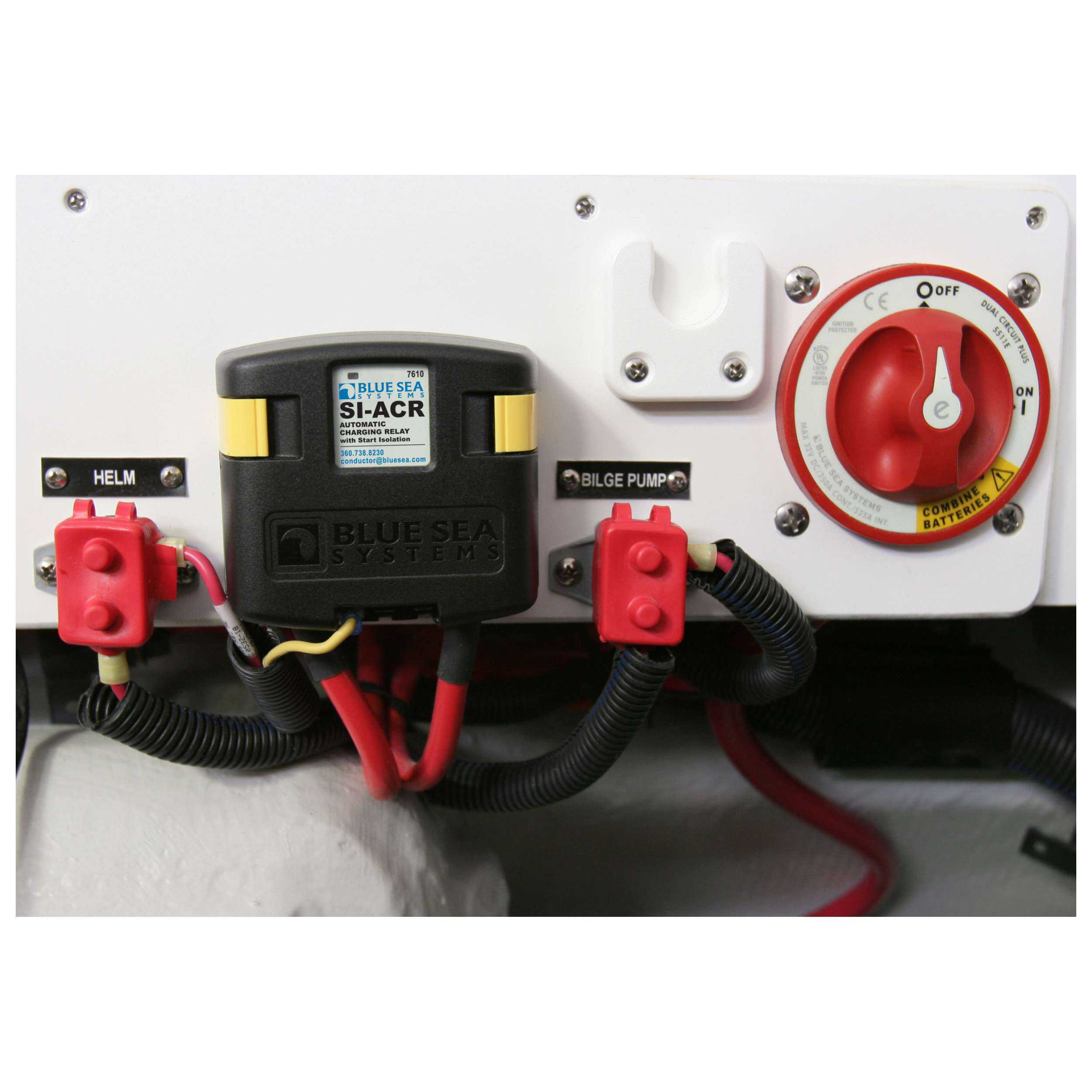 Blue Sea 7650 Add A Battery Kit 120a Switch Automatic Relay Lifetime Charging
