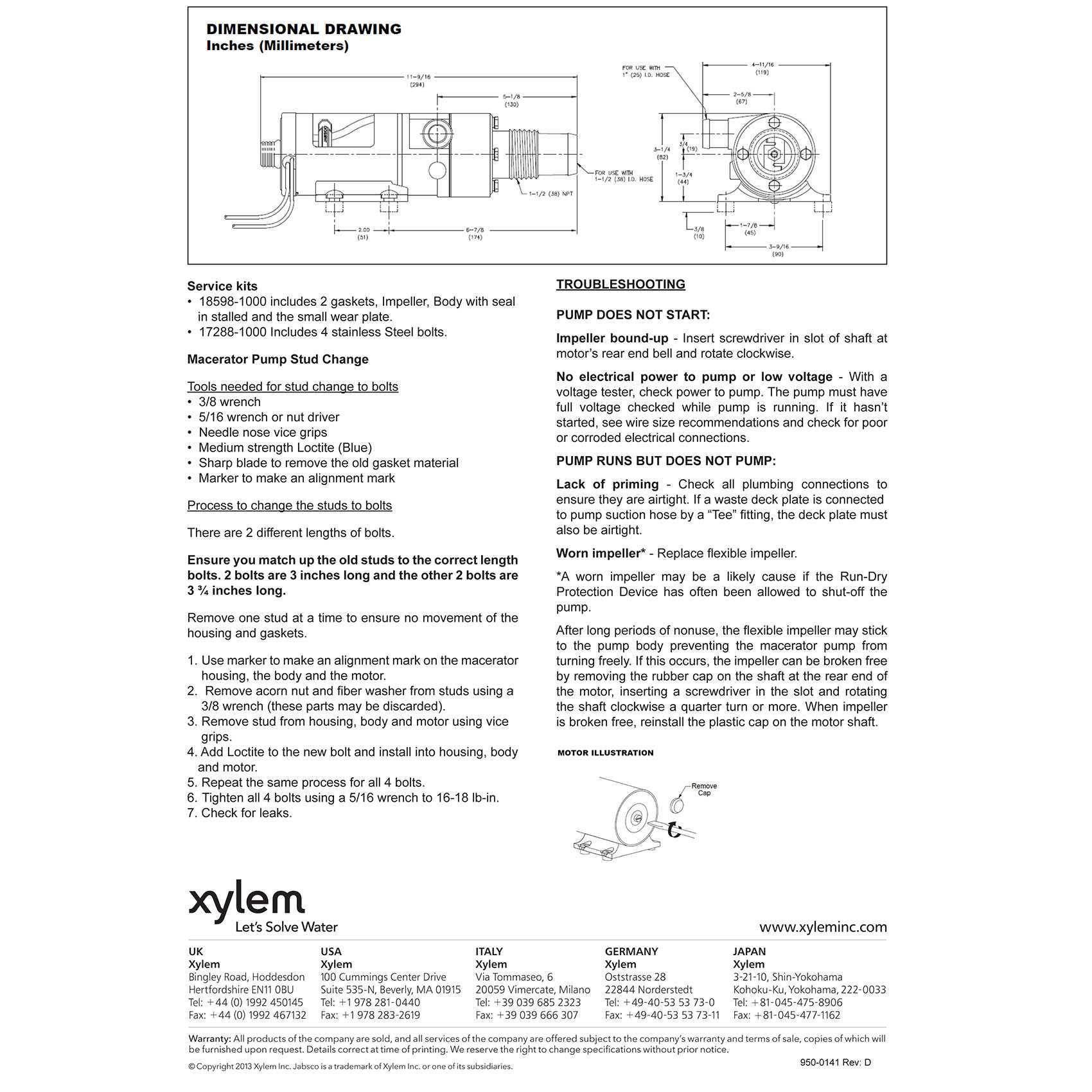 Jabsco 18590 2092 Macerator Waste Pump 12v Dc Marine Self Priming 1 Wiring Diagrams
