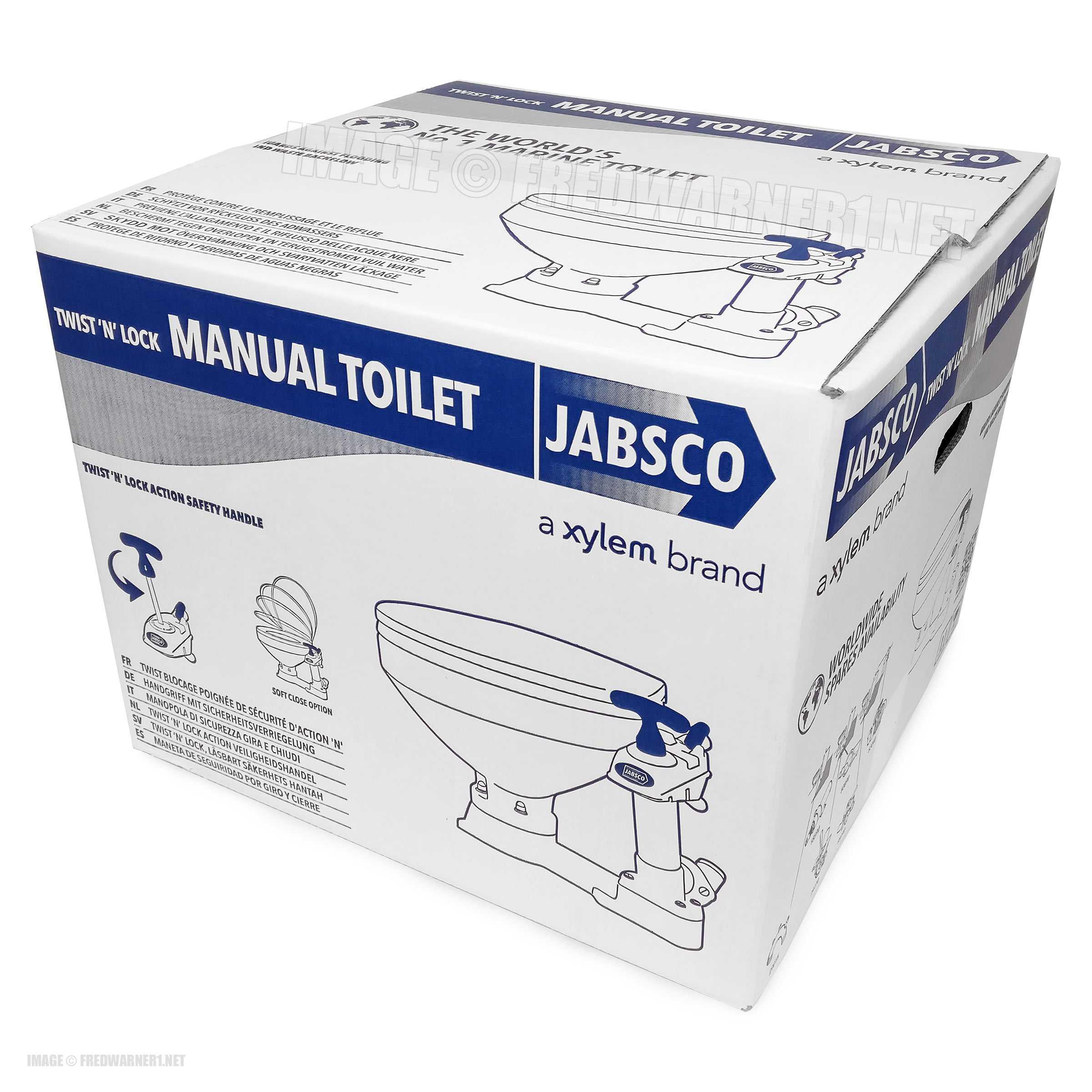 Jabsco 29090-5000 Marine Compact Toilet Boat Head Manual Twist N ...