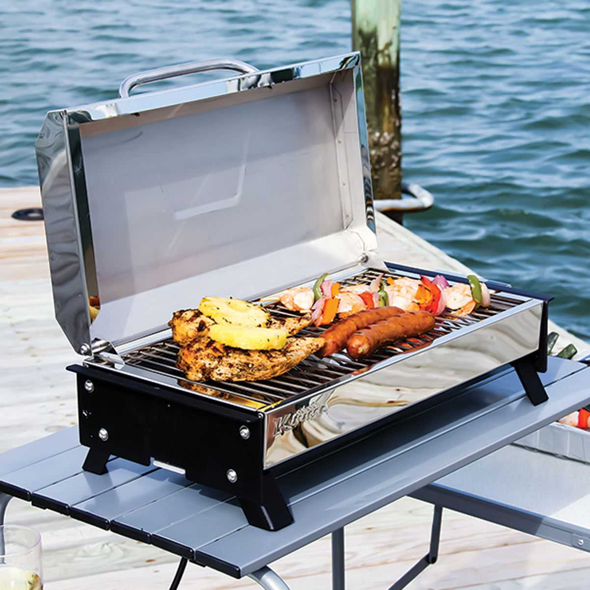 Kuuma Profile 150 Barbecue Gas Grill 58121 Stainless Steel