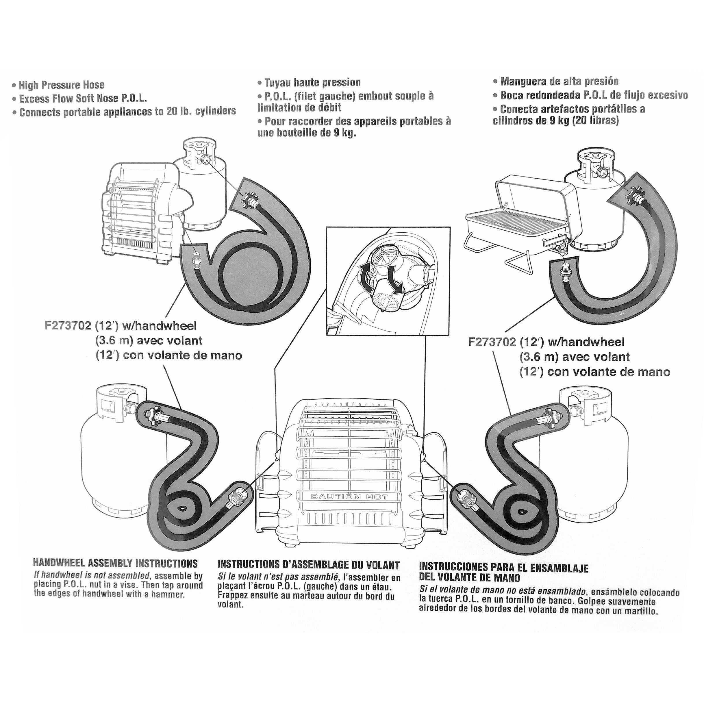 Mr Heater 12 Foot Propane Hose Throwaway Cylinder To Bulk Propane Big Buddy Heater  Wiring Diagram Mr. Heater Diagram