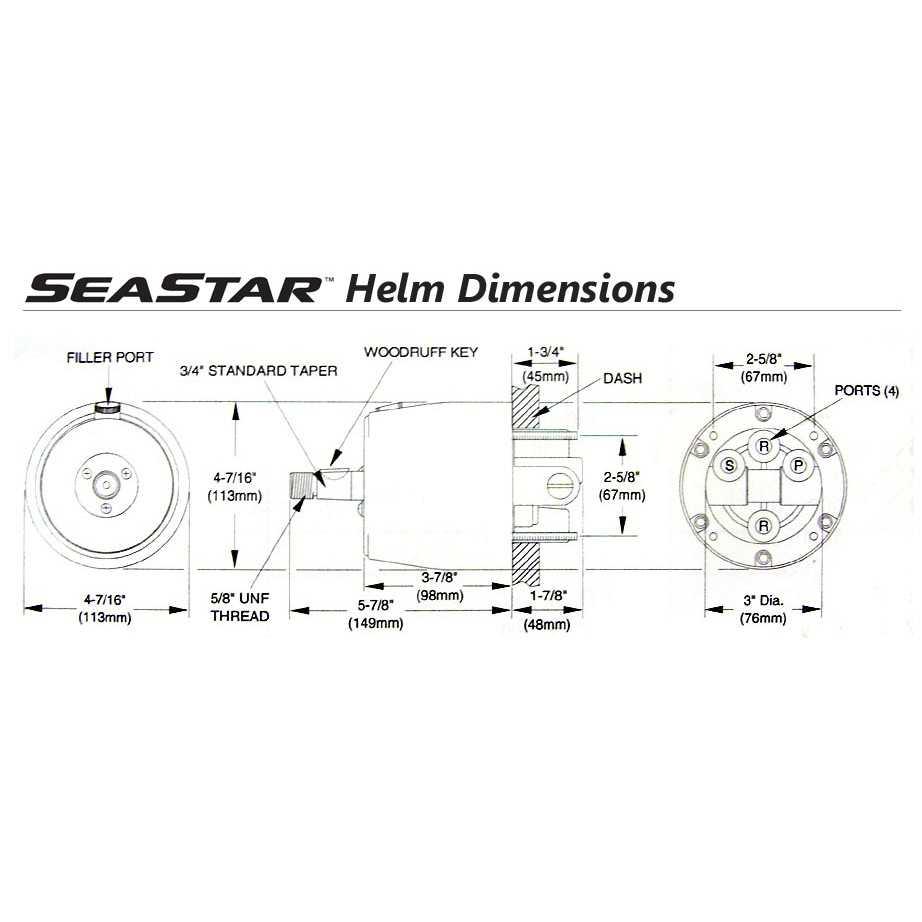 32 Seastar Hydraulic Steering Parts Diagram