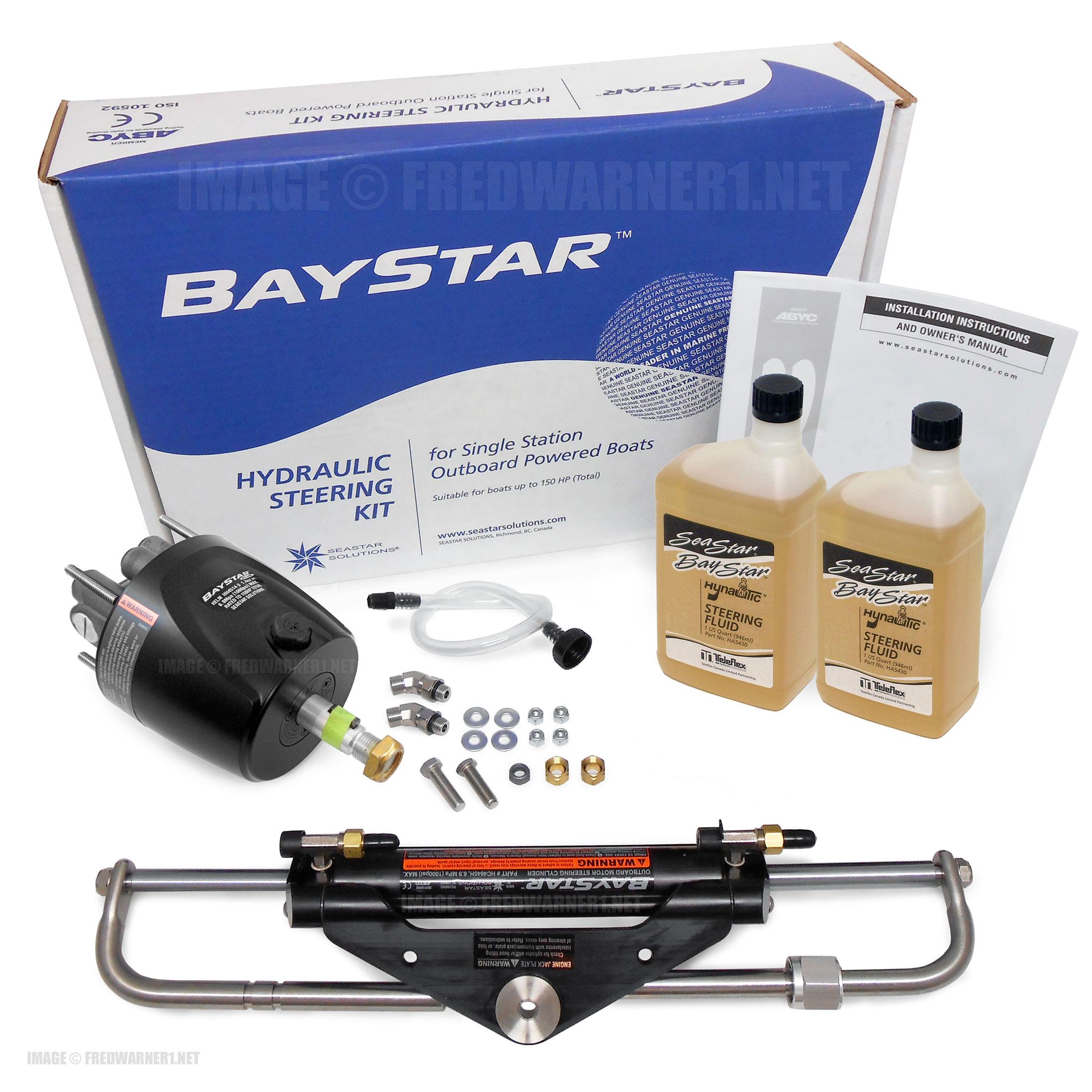SeaStar HK4500A-3 BayStar Plus Hydraulic Outboard Steering Kit (No Hoses)