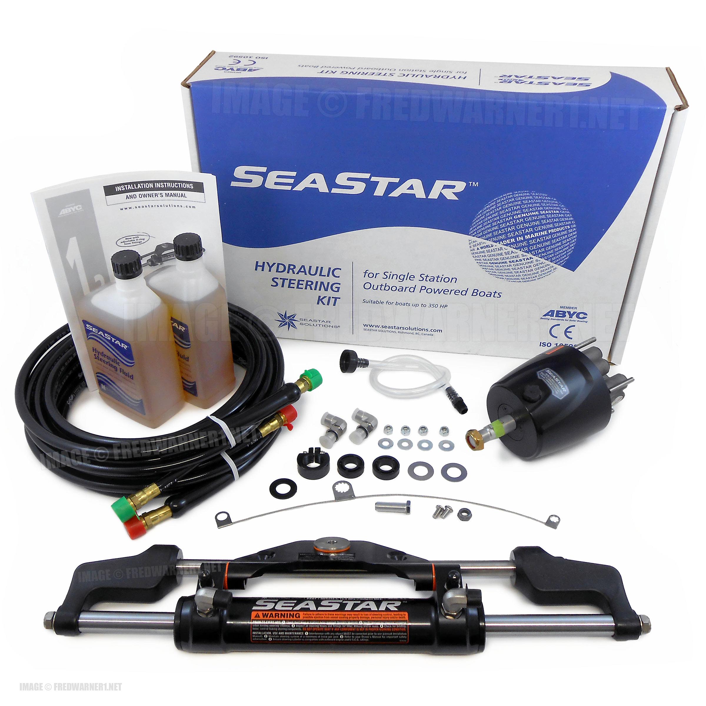 SeaStar HK6400A-3 24ft Hydraulic Outboard Steering HO5124 HK6324A-3 Kit  Teleflex