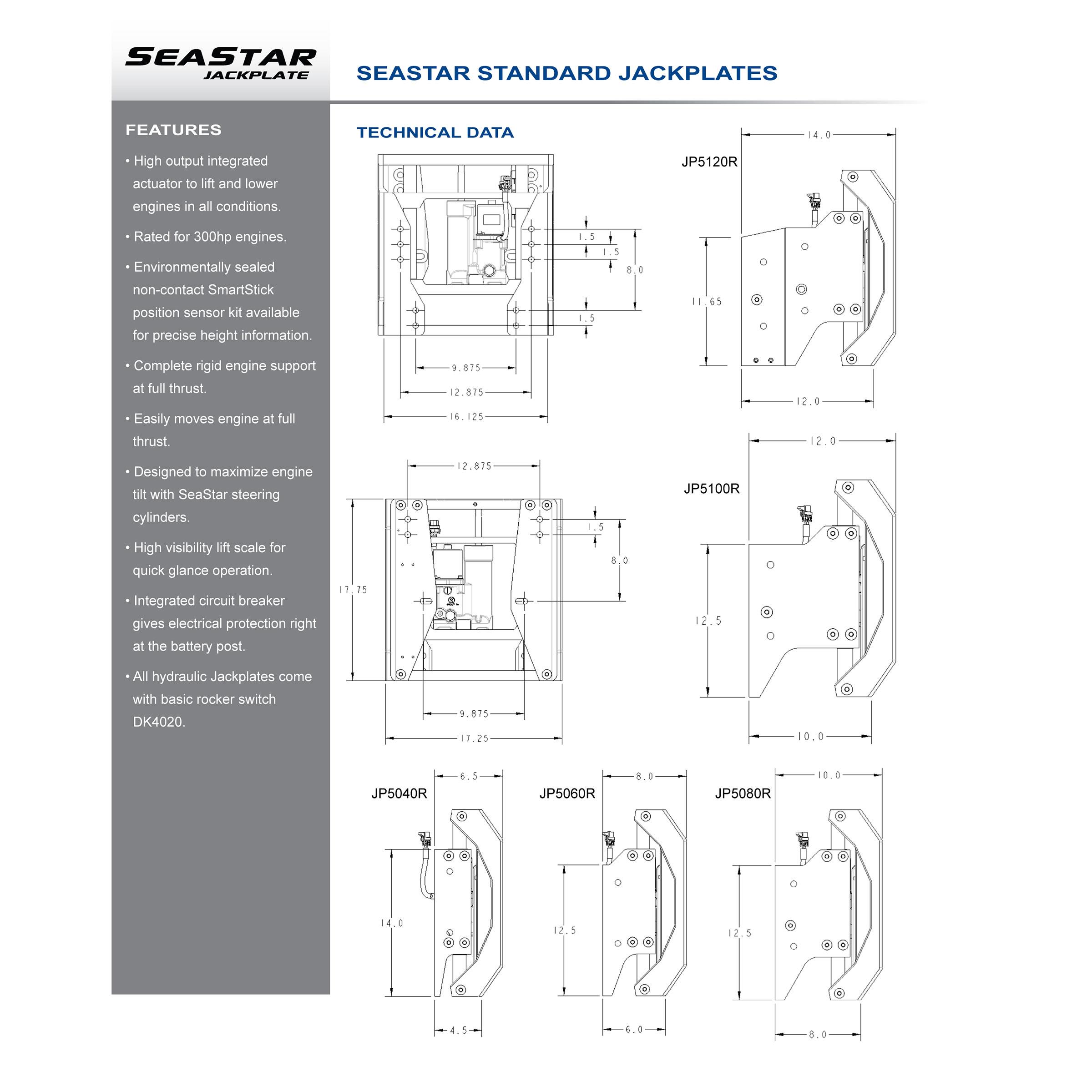 SeaStar JP5040R Hydraulic Jackplate ...