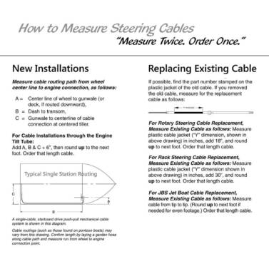 SeaStar SSCX15419 Xtreme Rack /& Pinion 19ft Boat Steering Cable Teleflex Marine