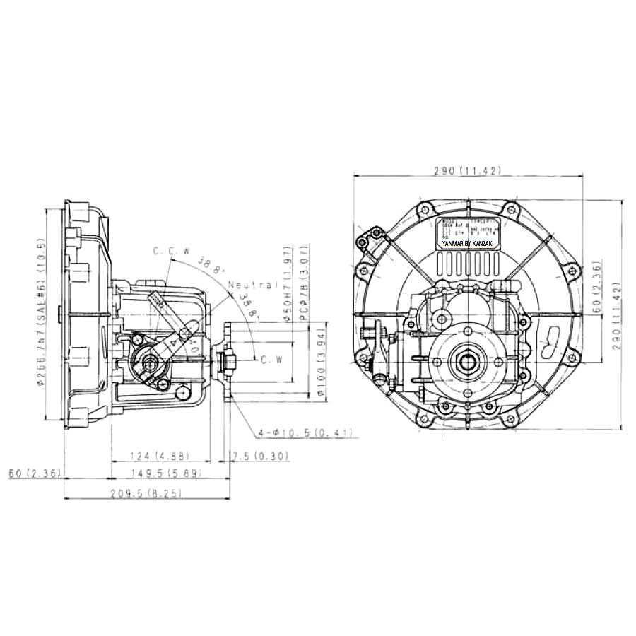 Yanmar Km2p 1 Kanzaki Marine Transmission 2211 Ratio Mechanical 2gm Engine Wiring Diagram