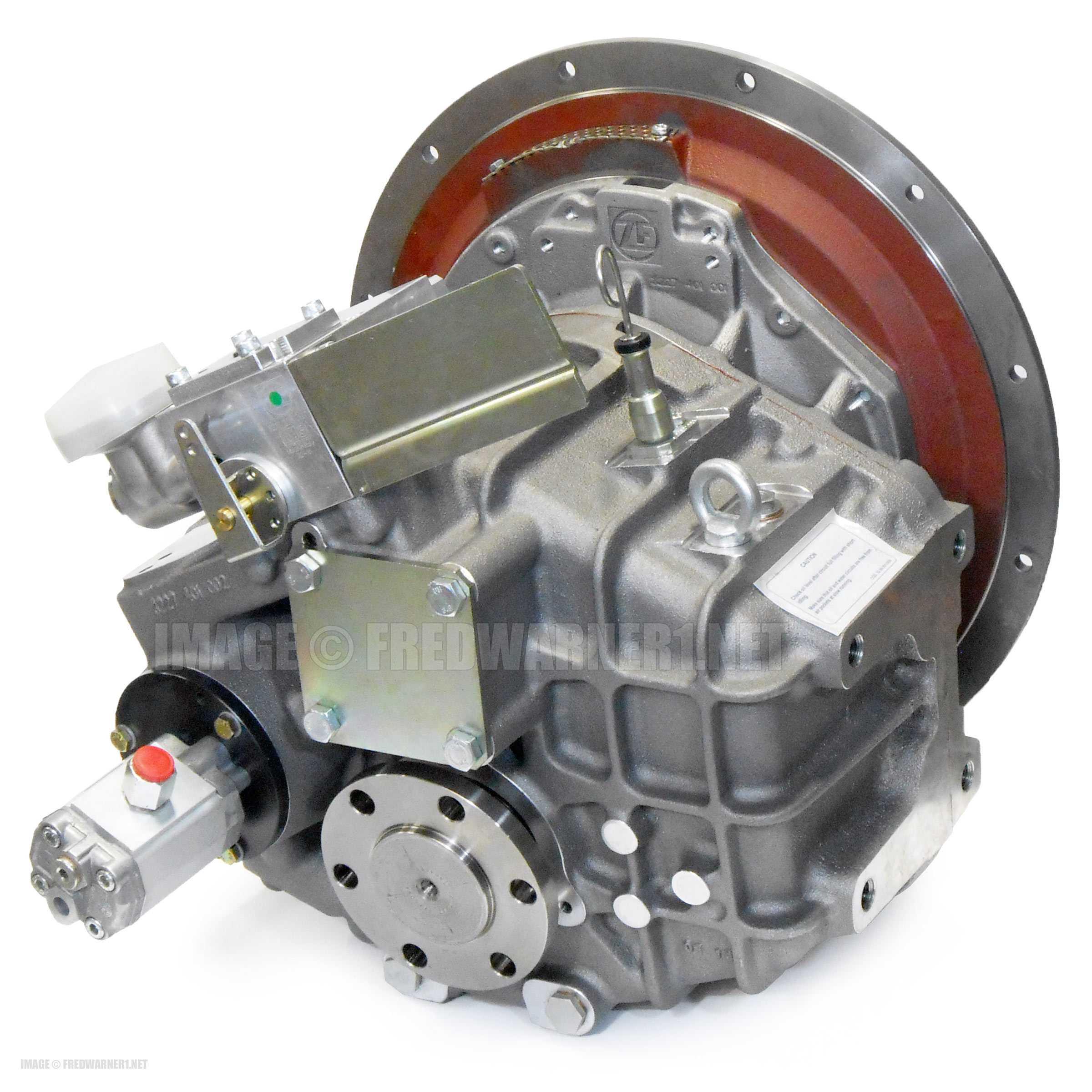 ZF 286A Marine Transmission 1 962:1 Mech Shift CFR SAE 2 Down-Angle  3227004006